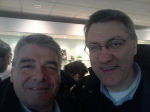 Maurizio Landini Fiom e il giornalista Claudio Pelagallo