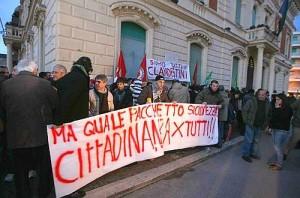 sit -in antirazzista