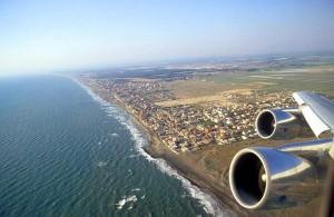 la costa di Fiumicino